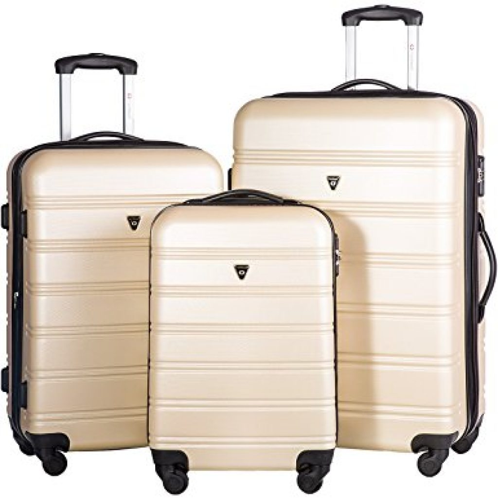 Best Lightweight Luggage Set Light color