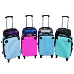 Goplus Globalway 3 Piece Luggage Set color