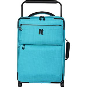IT World's Lightest Suitcase Review Blue