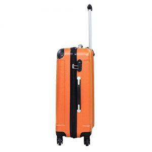 Goplus Globalway 3 Piece Luggage Set Orange