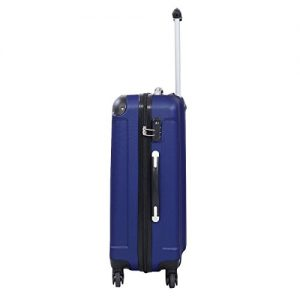 Goplus Globalway Luggage Set Blue Side