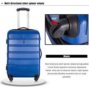 Merax Travelhouse Luggage Review spinner wheels