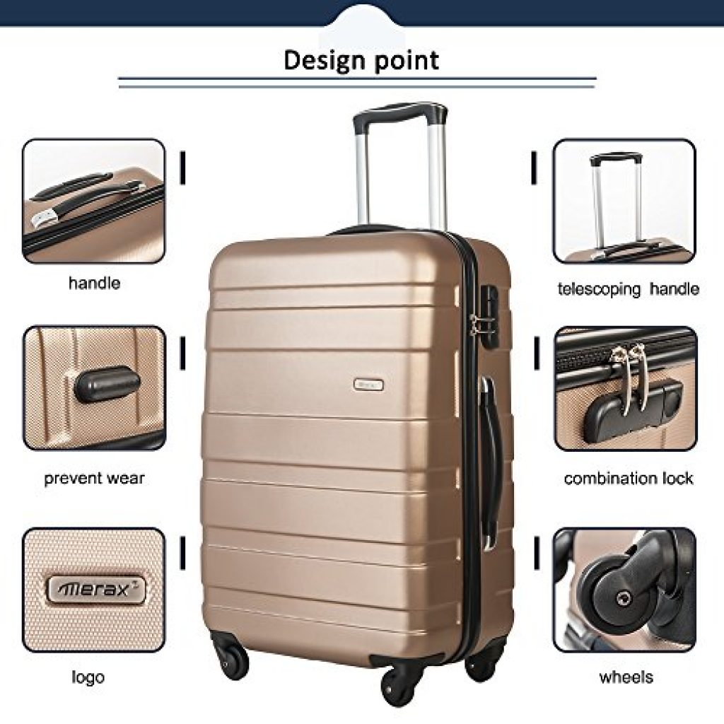 Merax Afuture 3 Piece Luggage Set Review Gold