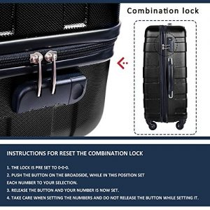 Merax Afuture 3 Piece Luggage Set Lock
