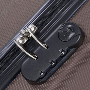 Goplus Globalway 3 Piece Luggage Set