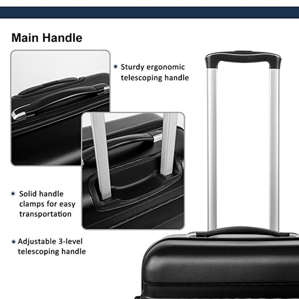 Merax Afuture 3 Piece Luggage Set Handle