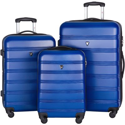 Merax Travelhouse Luggage Set Review blue