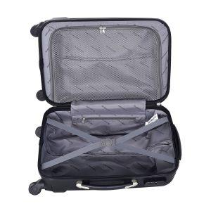 Goplus Globalway 3 Piece Luggage Set Black