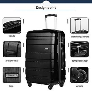 Merax Afuture 3 Piece Luggage Set Design Point