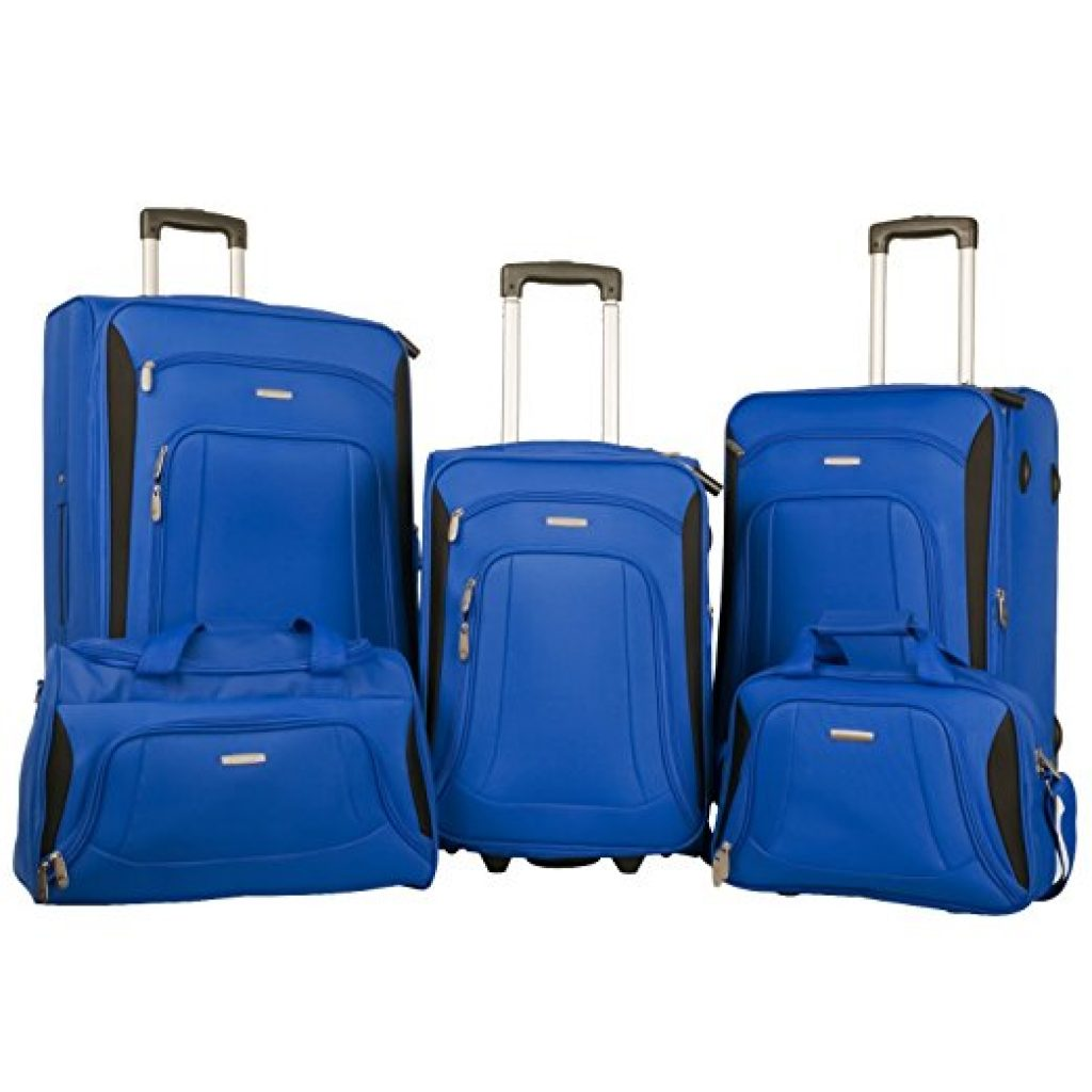 Merax Newest 5 Piece Luggage Review Blue Black