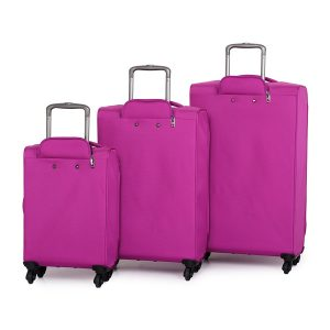 IT World's Lightest Suitcase Review Pink Back