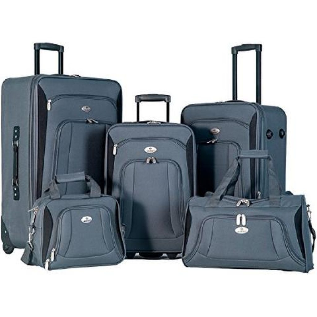 Merax Newest 5 Piece Luggage Review Grey