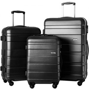 Merax Afuture 3 Piece Luggage Set Black