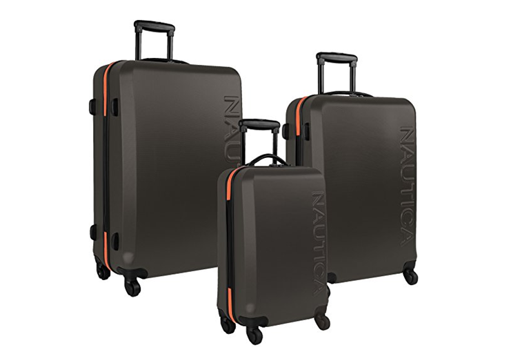 72819269a206 Nautica Luggage Ahoy 3 Piece Hardside Spinner Set Review 2019 ...