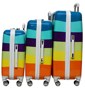 nicole miller rainbow luggage