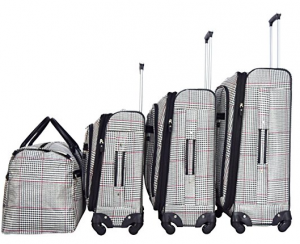 nicole miller taylor 4 piece luggage set