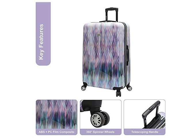 740a4c6db847 Steve Madden Luggage 3 Piece Hard Suitcase Set With Spinner Wheels ...
