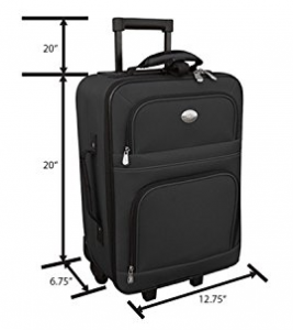 feb934fbd371 Jetstream Travel Carry On Suitcase On Wheels With Extendable Handle ...
