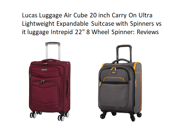 ee3bb0e26847 Lucas Luggage Air Cube 20 inch Carry On Ultra Lightweight Expandable ...
