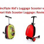 ZincFlyte Kid's Luggage Scooter vs Ferrari Kids Scooter Luggage Reviews