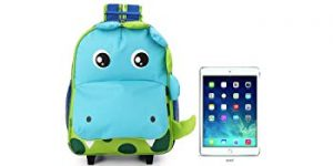 YODO Zoo 3-Way Toddler Backpack with Wheels or Little Kids Rolling Suitcase Luggage